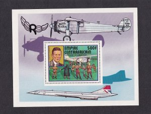 Central African Empire   #302   MNH  1977 sheet aviation history