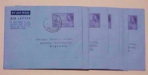 NYASALAND  AIR LETTERS x10 USED 1954 CHOLO