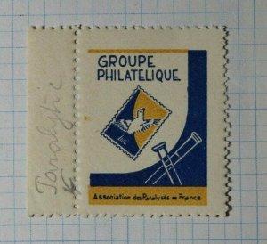 Groups Philatelique Association deParalyses de France Philatelic Souvenir Label