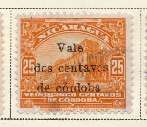 Nicaragua 1918-21 Early Issue Fine Used 2c. Surcharged 323639