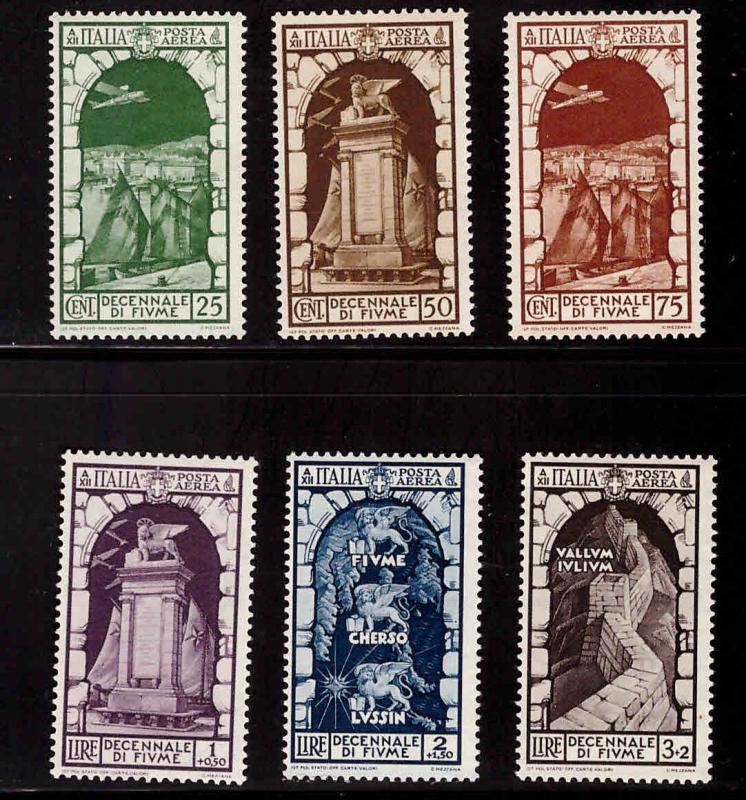 Italy Scott C56-C61 MH* airmail stamps