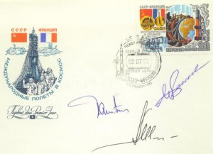 Soyuz T-6  crew signed cover