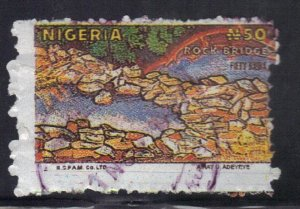 NIGERIA SCOTT# 560B  USED  50n 1990  ROCK BRIDGE   SEE SCAN