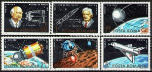 1983 Romania 3933-3938 25 years of the launch of Russian Sputnik 1