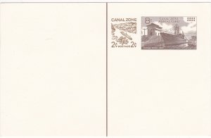Canal Zone # UX21, Ship in Canal Postal Card, Revalued Mint Unused