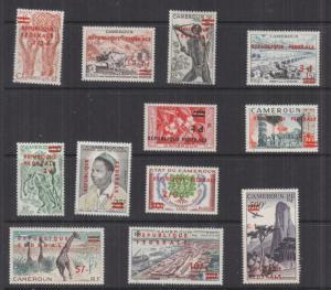 CAMEROUN, 1961 REPUBLIQUE FEDERAL overprint set of 12, LHM.