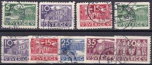Sweden #239-47 F-VF Used CV $14.80  (Z5227)