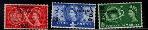 BAHRAIN Scott 115-117 MNH** 1957  set Jubilee Jamboree set