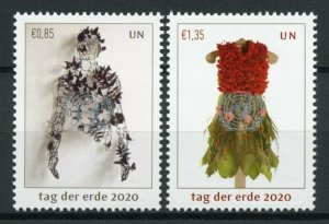 United Nations UN Vienna Art Stamps 2020 MNH Earth Day Cultures 2v Set