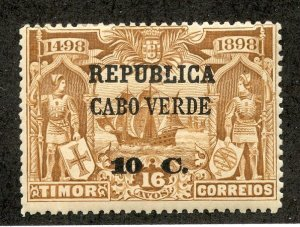 Cape Verde, Scott #134, Unused, Hinged