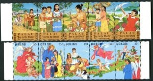 PALAU Sc#117-21 & 198-202 1986 & 1988 Christmas Complete Sets OG Mint NH