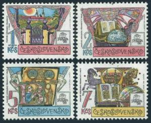 Czechoslovakia 2701-2704,MNH.Mi 2957-2960. PRAGA-1988.Museum,National Literature