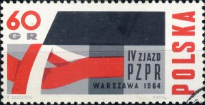 POLAND / POLEN - 1964 Mi.1501 60Gr. Workers' Party Congress - VF Used (b)