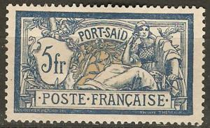 France Off Egypt Pt Said 32 Mi 30 MNG VF 1902 SCV $35.00