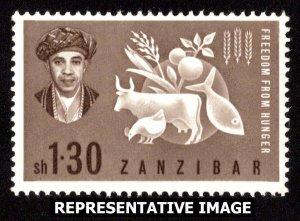 Zanzibar Scott 280 Mint never hinged.