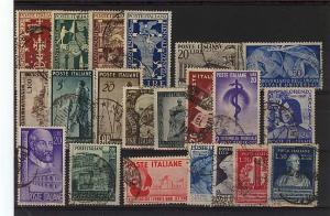 ITALY REPUBBLICA ANNO COMPLETO 1949 €363 MISSING 602