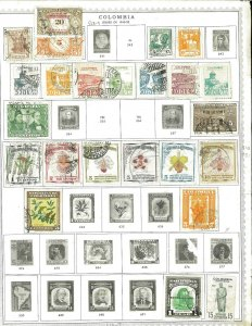 Colombia 1940-1994 M & U(mostly) Hinged on a mix of Remaindered Pages.
