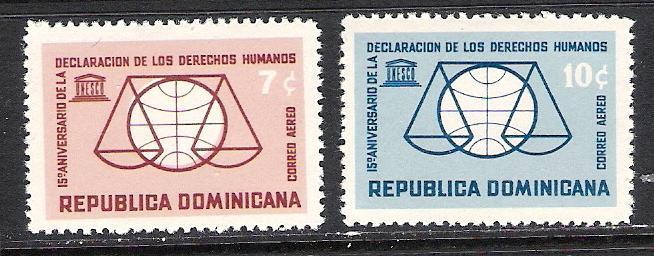 DOMINICAN REPUBLIC C130-31 MOG UNESCO R172 A