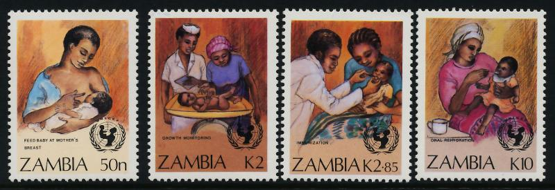 Zambia 440-3 MNH UN Medicine, Child Survival