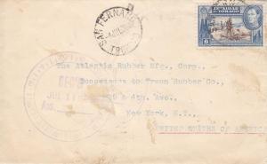 1939, Trinidad to New York, Backstamped New York (8090)