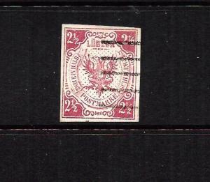 LUBECK  1859  2 1/2s   ROSE   FU    SG 4