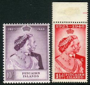 PITCAIRN ISLANDS-1948 Silver Wedding.  An unmounted mint set Sg 11-12