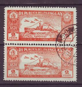 J16982 JLstamps 1931-9 paraguay gunboat used pair #c41