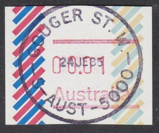 AUSTRALIA 1985 1c Frama - no postcode - used Gouger St SA...................Q666