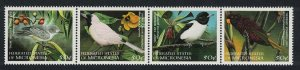 Micronesia Monarch Starling White-eye Birds 4v Strip SG#629-632