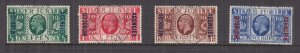 MOROCCO AGENCIES, BRITISH CURRENCY, 1935 Silver Jubilee set of 4, used.