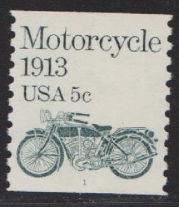 US #1899 Motorcycle MNH PNC Single plate #1