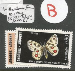 Andorra French Administration Butterfly SC 251-2 MNH (1cub)