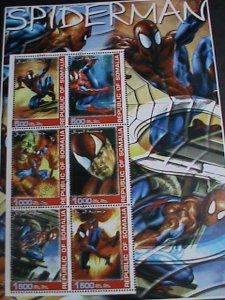 Somalia Stamp: Spiderman full Stamp sheet