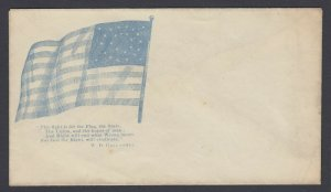 Civil War Patriotic unused cover - For the Flag, the State, the Union and Hope