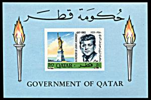 Qatar 119B, MNH, Revalued John F. Kennedy souvenir sheet