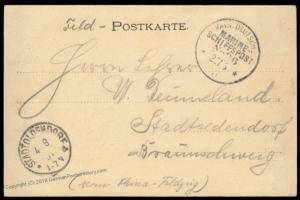 Germany 1901 MSP26 China KIAUTSCHOU Dampfer Rhein Boxer Rebellion Cover 88184