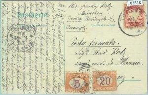 83518 - GERMANY: Bayern - POSTAL HISTORY - POSTCARD to ITALY Taxed 1906