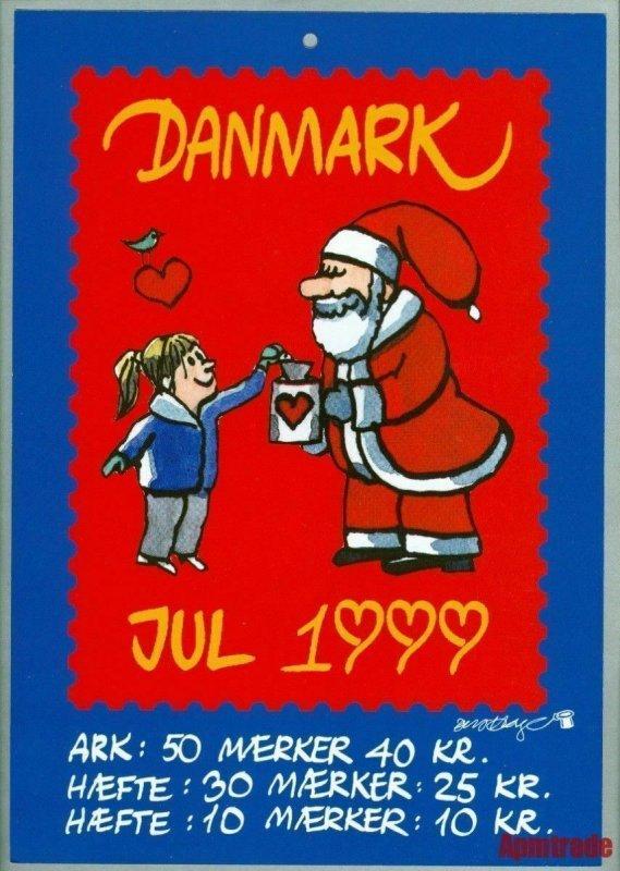 Denmark. Christmas Seal. 1999. 1 Post Office,Display,Advertising Sign. Santa
