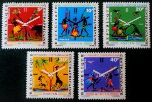 1972 Central African Republic 273-277 Fauna