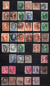 11//225 Used... Sound Stamps from 1855-93.. SCV $686.00