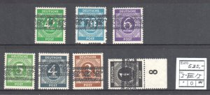 Germany #530, 532 to 535, 543, 549 MINT NH -- rare Overprint TYPE a C$800.00