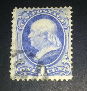Scott # 145 National Bank Note 1870-71 w/secret mark F/VF VLH (118)