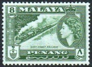 Penang 1957 8c East Coast Railway MH