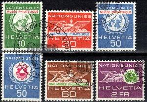 Switzerland #7o34-7 F-VF Used CV $4.05 (X4015)
