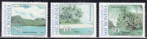 Micronesia 187-189 Tourist Attractions 1994