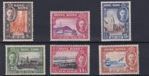 HONG KONG  1941     SG 163 - 168   CENTENARY SET     MH    CAT £90