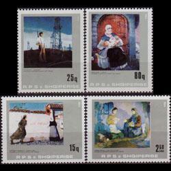 ALBANIA 1984 - Scott# 2132-5 Paintings Set of 4 NH