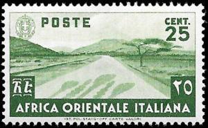 Italian East Africa Scott 7 Unused hinged.
