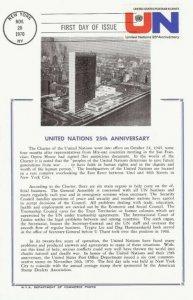 1419 6c UN 25th ANNIVERSARY - Hammond Maxicard