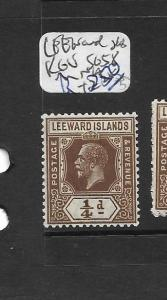LEEWARD ISLANDS (P1901B) KGV 1/4D  SG 58  MNH
